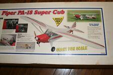 PIPER PA-18 SUPER CUB PLANS & MANUAL DYNAFLITE 104 INCH WS
