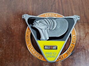 Paris dakar Rally Mitsubishi Ralliart Pajero  Grill badge emblem badge vintage