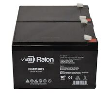 Raion 2 Pack 12 Volt 12 Ah Pride Mobility SC52 Sonic Scooter Replacement Battery