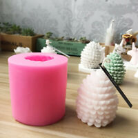 3D Christmas Pine Cone Silicone Candle Molds Beeswax Candles Making  Mold DIY