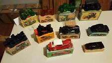 AVON LOT OF TRANSPORTATION BOTTLES 9 CARS AND ONE TRUCK