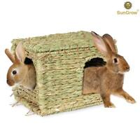 SunGrow Folding Woven Grass House:Chew Toy for Rabbits,Bunnies,Small Animal,Pets