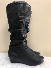 Cliffs White Mountain Daphne women  Black man made material Slouch boots SZ 10M