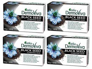 Black Seed Clarifying Soap - 4 x 115g Bars - Vatika DermoViva