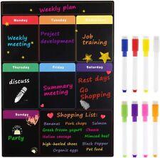 Magnetic Dry Erase Weekly Calendar With Markers Chalkboard Menu Refrigerator Board