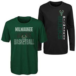 Outerstuff NBA Youth (8-20) Milwaukee Bucks Performance T-Shirt Combo