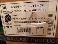 HOWARD S0250-11C-211-CK HIGH PRESSURE SODIUM 250 WATT 480 VOLT BALLAST KIT