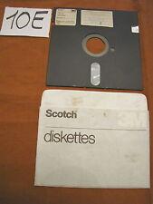 Floppy disc 5.25 inch 5 1/4 Commodore 64 Scotch 3M scritta giochi floppy n. 5