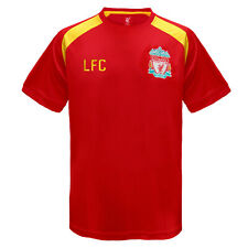 Liverpool FC Official Football Gift Mens Poly Training Kit T Shirt Red Small