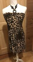 Speechless Gorgeous Women's Juniors Size Large Dress Leopard Print *WOW*