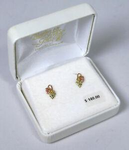 Black Hills Gold by Coleman 10k Grape Leaf Stud Earrings 0.6g
