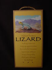 Advice From A Lizard wood Inspirational Sign wall hanging Novelty Plaque animal