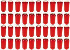 40 Stück Kompositions Grablicht Nr. 7 rot | Öllicht Grabkerzen Friedhofskerzen