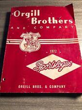 1972 Orgill Brothers Sporting Goods Catalogue Fishing Guns Camping