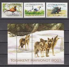 Uzbekistan Usbekistan MNH** 2015 Mi. 1095-1098 Bl.70 Zoo of Taschkent