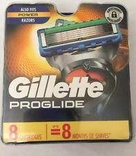 NEW GILLETTE PROGLIDE REFILL RAZOR BLADES 8 Cartridges