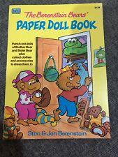 Vintage Stan & Jan Berenstain - THE BERENSTAIN BEARS PAPER DOLL BOOK [Uncut]