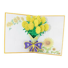 3D Greeting Thank You Theme Get Well Soon Bouquet Foral Chrysanthemum CardGiftLH