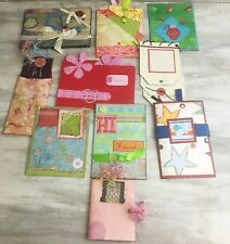 Lot of 10 Stampin Up Hand Made Cards Journals Albums