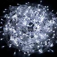 White 32ft 10M 100 LED String Fairy Lights Christmas Wedding Party Display Decor