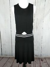AEO Sleeveless Dress Black Swing Knit XL Cut Out Fit Flare American Eagle Womens