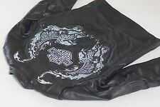 Harley Davidson Men Road Revolution Leather Jacket Reflective Eagle M 97112-09VM
