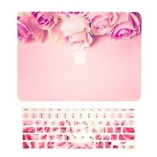 "Pink Rose Matte Case + Keyboard Cover for Macbook Air 13"" A1369 & A1466"