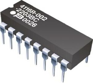 Bourns 8-ISOLATED RESISTOR NETWORKS 21.97x7.87x4.57mm 25Pcs 2.25W-1.2kΩ Or 6.8kΩ