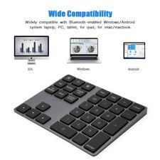 Bluetooth Number Pad Numpad Numeric Keypad 34 Key Keyboard for Laptop Desktop GM