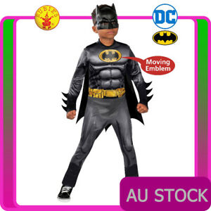 Deluxe Kids Batman Costume Superhero DC Comics Book Week Boys Dawn of Justice