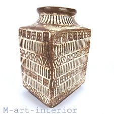 Extraordinary Bay Keramik VASO DESIGN Bodo Mans MCM Bitossi era WGP VINTAGE 1960