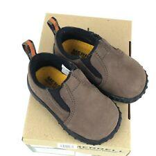 MERRELL Boys Jungle Moc Slip On Loafer Baby Toddler little kid size 4 Leather