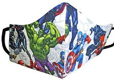 Avengers Super Hero's 100% Triple Layer Cotton Face Mask For Teens Usa