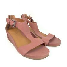 Gentle Souls Gwendaline Mauve Leather Wedge Sandal 6.5