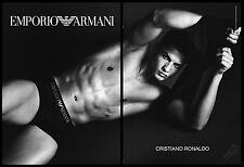 Christiano Ronaldo 2-page clipping ad 2010 ad for Emporio Armani underwear