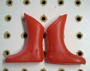 Vintage Ideal 1966 Captain Action Original Batman Boots but MOLDED IN RED