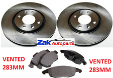 CITROEN C4 PICASSO 1.6 HDI (2006-2013) TWO FRONT BRAKE DISCS AND PADS SET NEW