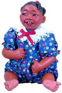 ABC Ollie Afro African American Brown Black Dark New Resin Baby Girl Doll