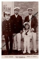 mm751 - King George V & cousin Czar Nicolas & sons as mariners -  Royalty photo