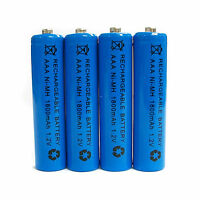 4 pcs AAA 1800mAh Ni-Mh 1.2V rechargeable battery Cell for MP3 RC Blue US Stock