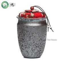 Mano in legno stile antico sparato ceramica di tè Contenitore Canister 250ml