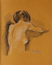Paul GIROL (1911-1988) Nu de femme peinture figurative de l'Ecole de Paris nude