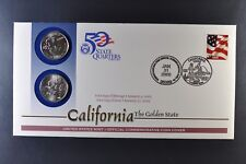 2005 California P&D State Quarter First Day Coin Cover + 37 cent Stamp-SEALED