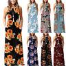 Women Boho Floral Print Long Maxi Dress Cocktail Party Beach Sundress Plus Size