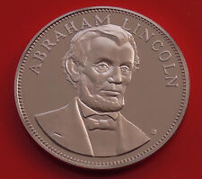 Bronze Medal Medallion Abraham Lincoln US USA Politician Politics 16th President
