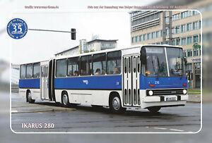 "Blechschild 20x30cm ""Oldtimer-Busse im Osten - Ikarus 280"" Nr. 35"