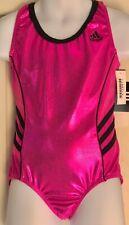 Was $59.99 Nwt! Adidas Pink Foil Racerback Gk Elite Tank Gymnastics Leo Child M