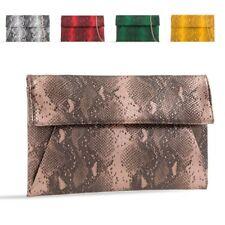 77b9bed88e16 Ladies Snakeskin Envelope Clutch Bag Animal Print Evening Party Handbag  KT2422