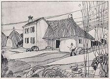 D2553 Casone presso San Giorgio delle Pertiche - Stampa - 1925 vintage print