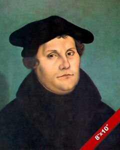 MARTIN LUTHER PORTRAIT GREAT CHRISTIAN REFORMER BIBLE PAINTING ART PRINT CANVAS